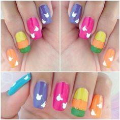 Acrylicnailswithsilverandpinkgelpolish Nails