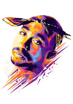 This portrait of Tupac Shakur features in Mink Couteaux's 'Dead Rappers' illustration series It's hard to miss the awesome, vibrant work fr. Big Pun, Tupac Shakur, Meme Comics, Hip Hop Artists, Music Artists, Grumpy Cat, Tupac Wallpaper, Tupac Art, Arte Hip Hop