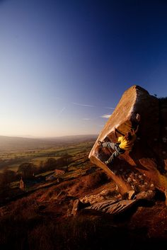 Bouldering on Grit at Staffordshire, UK - looks like a fab place to boulder