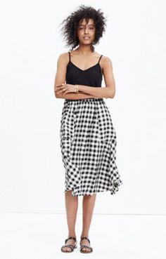 Sidewalk Midi Skirt in Buffalo Check