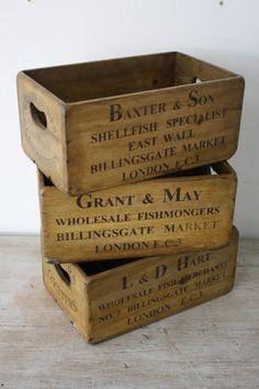 Vintage fish crates