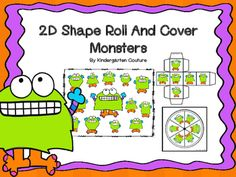 Students will enjoy this 2D Monster Shapes Roll and Cover. It can be played with the spinner that is included or the die. It can be played as Roll and Cover or as 2D shape bump. The idea of this game is to reinforce shape recognition and naming.To Play 2D Shape Roll and CoverThis is a two or more player game.
