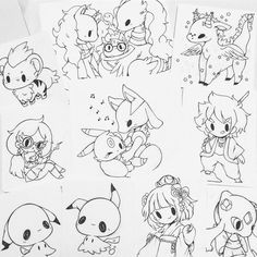 commissions are all sketched/lined c: all orders will be sent on tuesday since monday's a holiday