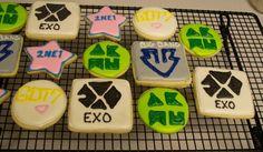 Kpop sugar cookies; AKMU, Big Bang, EXO, Got 7