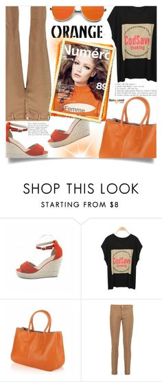 """""""Banggood  8"""" by ladybug-100 ❤ liked on Polyvore featuring 7 For All Mankind, Spring, orange and BangGood"""