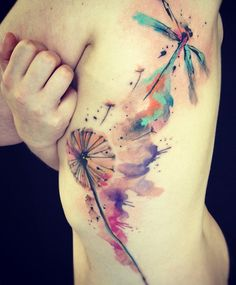 Tattoosday // Ondrash Tattoos  Love the watercolor look of it, the size, not so much....