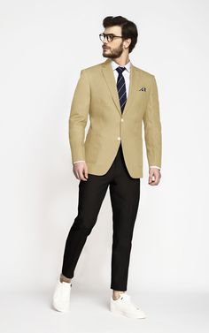 e2ff2e2c This Khaki brown blazer will stay crisp and feel cooler when it is hot  outside.