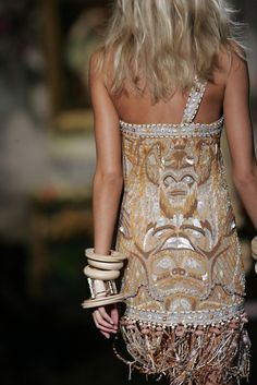 Cavalli    The details and the accessories are to die for. Love the color palette as well.