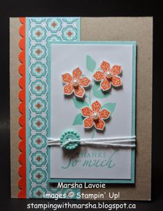 Wednesday, April 2, 2014 Stamping with Marsha: Thanks So Much! Petite Petals,  Summer Silhouettes, Sycamore Street DSP