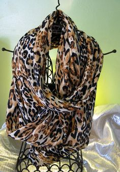 Slinky,Sexy long & exttra wide leopard scarf....