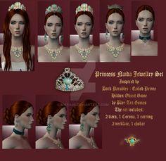 Princess Naida jewellry set - My works in Sims 2 by maya40 on DeviantArt