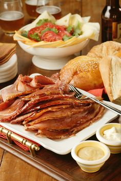 Sweet Ale Glazed Ham recipe from Dine and Dish. Beer + Ham = Amazing.