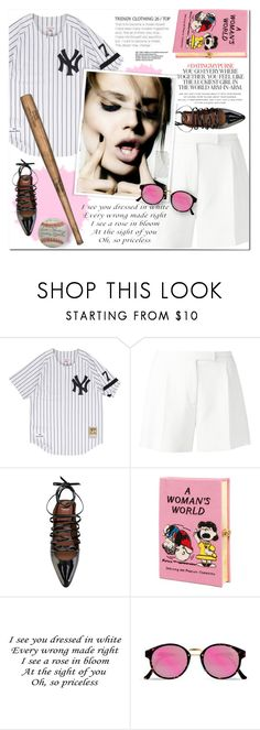 """""""Baseball Inspired"""" by nkara ❤ liked on Polyvore featuring Elie Saab, Givenchy, Olympia Le-Tan, RetroSuperFuture and Kate Spade"""