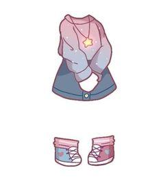 Manga Clothes, Drawing Anime Clothes, Kawaii Clothes, Cute Kawaii Drawings, Kawaii Art, Kawaii Anime, Girl Drawing Sketches, Clothing Sketches, Fashion Design Drawings