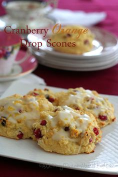 Cranberry Orange Drop Scones - Low Carb and Gluten-Free | All Day I Dream About Food #scones #baking