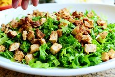 I love taco salads of any kind. I make one similar to this one, but I do drippy, rich taco meat and add a bunch of beans. I went the chicken route yesterday because I had some boneless, skinless br… Healthy Eating Recipes, Cooking Recipes, Healthy Meals, Chicken Tacos, Salad Ingredients, Summer Salads, Food Inspiration, Salad Recipes, Dinner Recipes