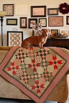 """""""Cindy Lou Who"""" Schnibbles by Miss Rosie's Quilt Co. Fabric: """"Colonial Christmas"""" by JudieRothermel  It's quilted by me and binded. How..."""