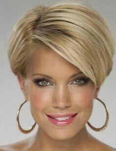 "hair_beauty-Blonde pixie bob ""For mom Kelly"" Short Hair With Layers, Short Hair Cuts For Women, Layered Hair, Cute Hairstyles For Short Hair, Short Hair Styles, Hairstyles 2018, Short Wedge Hairstyles, Fashion Hairstyles, Fringe Hairstyles"