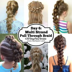 Day 10 of the 30 Day Braiding Challenge is the 3 Strand Pull Through Braid. Come check out this awesome braid, perfect for all ages. Join the challenge!