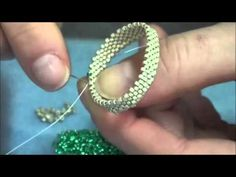 - Create a Glass Cabochon Choker and Russian Spiral - Part - Create with beads Seed Bead Necklace, Beaded Necklace, Beaded Bracelets, Bead Jewellery, Beaded Jewelry, Bracelet Making, Jewelry Making, Diy Jewelry Projects, Bracelet Tutorial