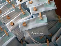 Bustine in pique porta confetti, ideali per battesimo e annuncio nascita: