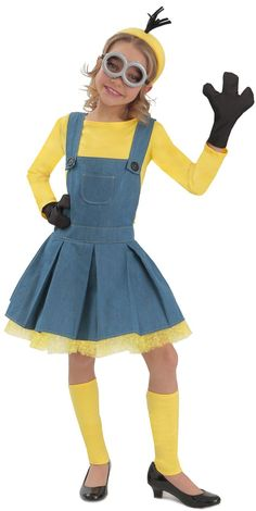 Let your daughter's imagination run free by encouraging her to make this Minions Girl Jumper Costume all her own. Maybe she has a purse she doesn't leave the house without (Just like Mom!) or a favorite pair of shoes or even a favorite hair tie, the options are endless.