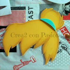 Crea2 Con Pasión: Goma eva, Aprendiendo de Todo un Poco Dinosaur Stuffed Animal, Jelly Beans, Short Stories
