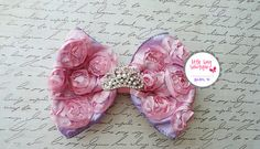Lavender Pink Rosette Bow with CROWN Photo by LittleBugBowtique, $8.50