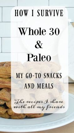 How I survive eating Whole 30 and Paleo favorite snacks and meals Whole 30 Snacks, Whole 30 Diet, Paleo Whole 30, Whole 30 Recipes, Whole 30 Drinks, Whole 30 Meal Plan, Paleo On The Go, How To Eat Paleo, Going Paleo