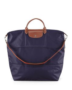 V1SWQ Longchamp Le Pliage Expandable Travel Bag, Bilberry