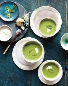 garlic & spinach soup