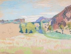 Armand GUILLAUMIN (1841-1927), Vallée d'Agay, pastel sur papier, 47,2 x 62,2 cm. © MuMa Le Havre / Charles Maslard