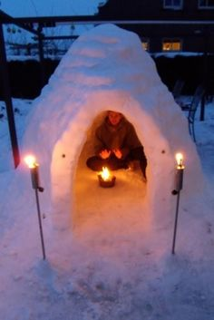 Snow Fort/ this is happening in front yard tomorrow