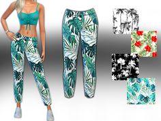 Saliwa's HM Style Summer Trend Pattern Mesh Pants