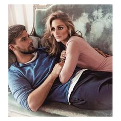 """Olivia Palermo and Johannes Huebl for Sunday Life Magazine. Olivia in a Burberry Prorsum silk georgette dress and Johannes in a Jac & Jack """"Isaac"""" sweater and Bassike T-shirt and pants. Estilo Olivia Palermo, Olivia Palermo Lookbook, Olivia Palermo Style, Perfect Couple, Beautiful Couple, Look 2017, Stylish Couple, Fashion Couple, Life Magazine"""