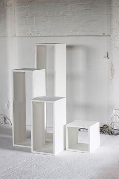 HOLLOW WOODEN PLINTHS - Display & Exhibition Plinths - PLINTHS.LONDON