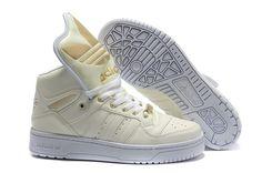 promo code 9815a 53952 Jeremy Scott M Attitude GID Womens Adidas Originals Shoes White Gold Adidas  Logo, Adidas Men