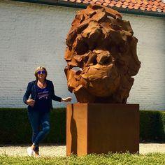 a beautiful day at Sint-Martens-Latem / Gent / Belgium with WANTED the big guy Latem Gallery Steel Sculpture, Bronze Sculpture, Lion Sculpture, Contemporary Sculpture, Beautiful Day, Belgium, Sculpting, Art Projects, Art Gallery