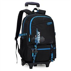 8af6f0728f54 Kids Boys Girls Rolling Backpacks For School Fits 15.6 in... https