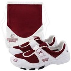 $49.95 Mississippi State Bulldogs White-Maroon PIRO Tennis Shoes