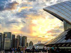 The Opera House the cruise ship and the city - a nightly feast for the eyes on my way home.... . . . #wanderlust #adventure #naturegram #instatravel #holiday #vacation #naturelovers #travelgram  #inspiration  #instalike #photooftheday #igtravel #architecture  #wow_australia2016 #australia_shotz  #australiagram_mobile  #SeeAustralia #NewSouthWales #Great_Captures_Australia  #aussiephotos #hello_bluey #ig_discover_australia #fabulous_australia_ #sunset_vision #sunset_stream #Super_PhotoSunsets…