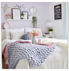 Lilac Room, Pastel Bedroom, Purple Bedrooms, Room Ideas Bedroom, Home Bedroom, Kids Bedroom, Peaceful Bedroom, Bedroom Drawers, My New Room