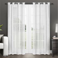 Exclusive Home Penny Grommet Curtain Panel Pair - EH7937-01 2-96G