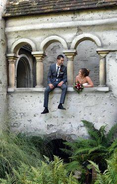 Deze mooie trouwfoto van Twan en Marcella werd gemaakt in de Efteling
