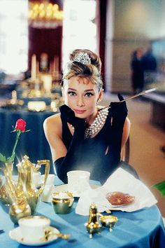 Audrey Hepburn in a promotional photo for Breakfast at Tiffany's (1961)