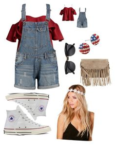 """USA❤️"" by brooklynb39 on Polyvore featuring Anna October, Converse, Boohoo and Accessorize"