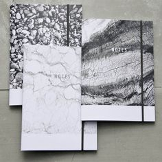 Venice Marble Notebook Marble Journal small black and by PASiNGA