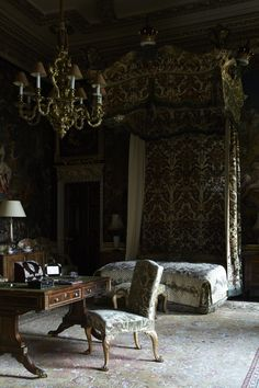 A tapestry-covered bedroom at Holkham Hall, another grand estate nearby | Norfolk, England