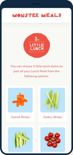 Monster Meals is a startup on a mission to make healthy food fun for school children. Lunch Items, Carrot Sticks, Little Lunch, School Children, Good Food, Healthy Recipes, Foods, Meals, Food Food