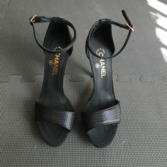 Chanel sandal Open toe ankle strap never been worn CHANEL Shoes Heels